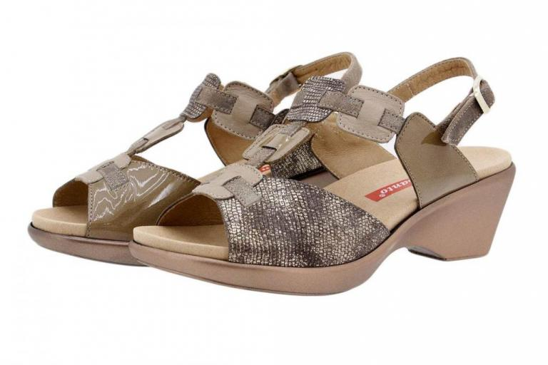 Removable Insole Sandal Patent Taupe 1853
