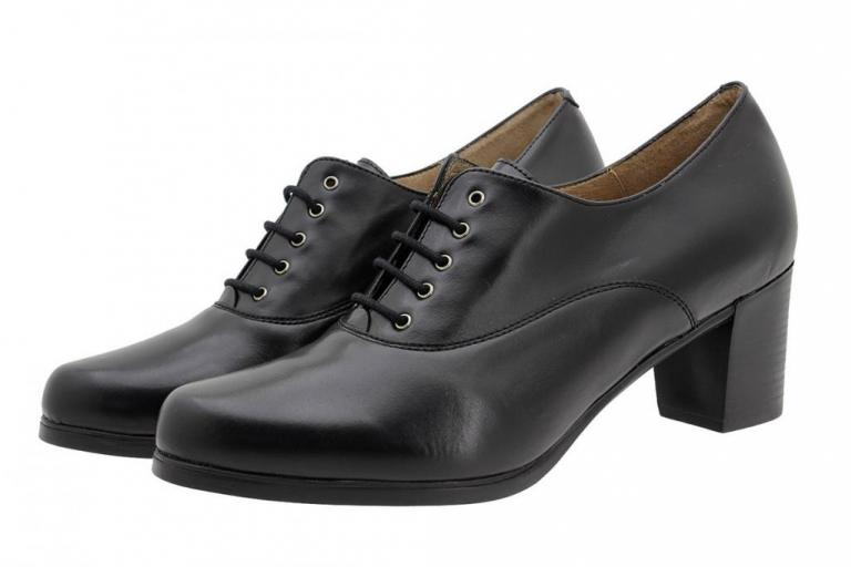 Lace-up Shoe Black Leather 185325