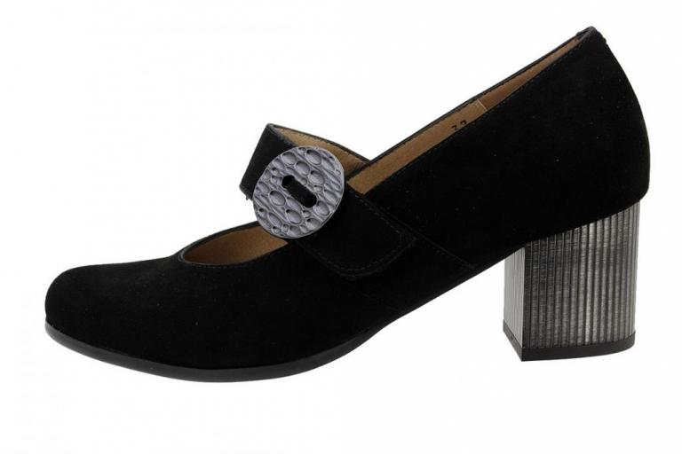 Mary-Jane Black Suede 185367