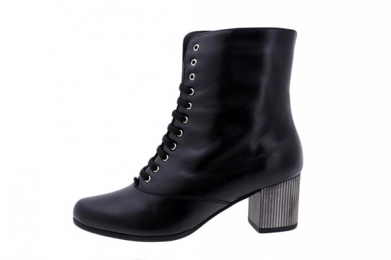 Ankle Boot Black Leather 185385