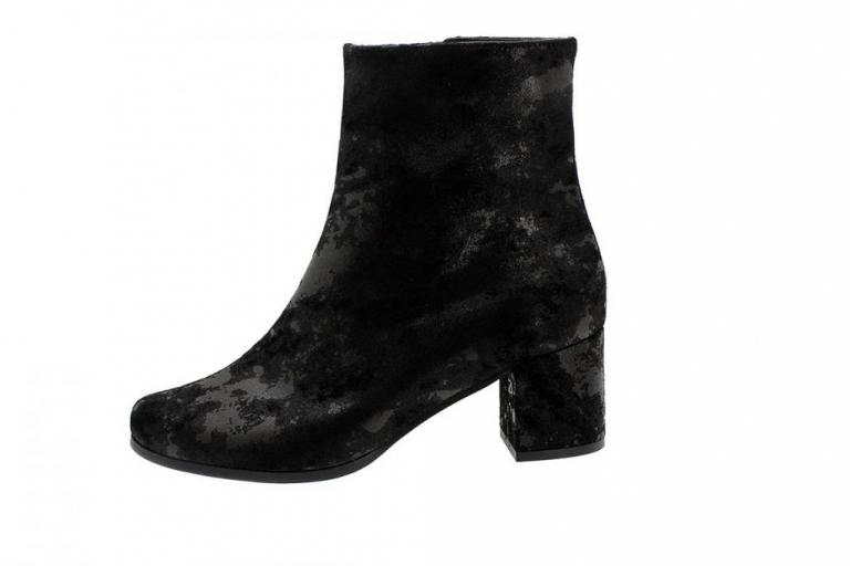 Ankle Boot Black Metal Suede 185387