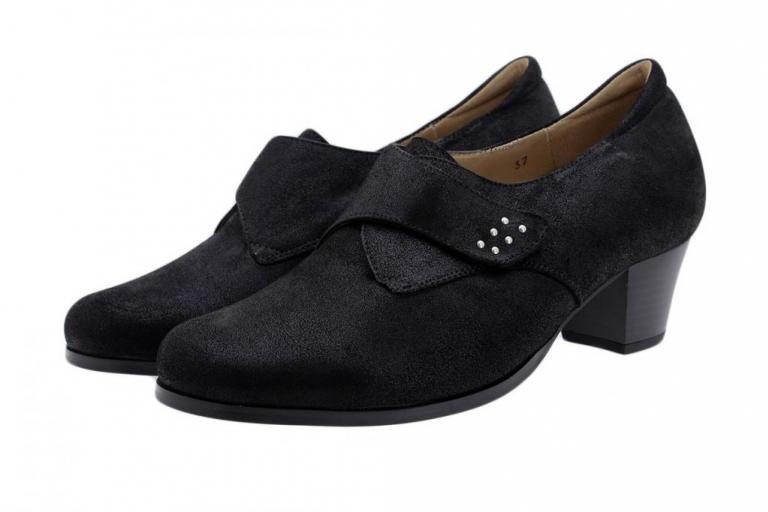 Velcro Shoe Black Metal Suede 185462