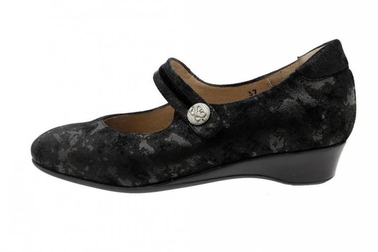 Mary-Jane Black Metal Suede 185528
