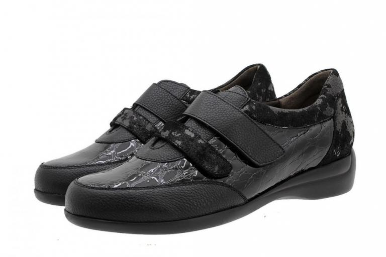 Velcro Shoe Black Leather 185576