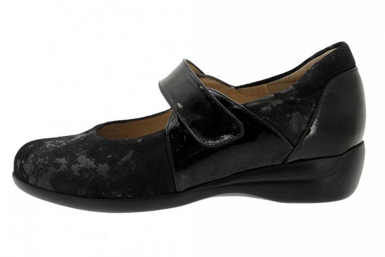 Mary-Jane Black Metal Suede 185578