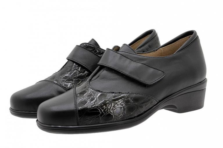 Velcro Shoe Black Leather 185602