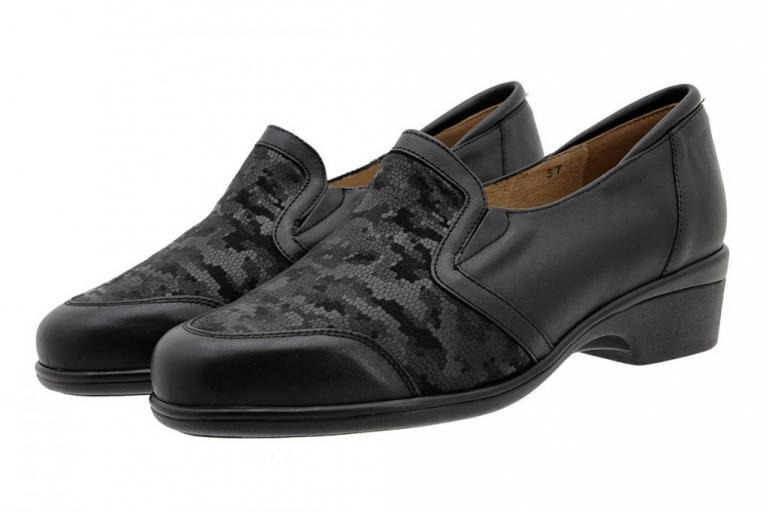 Stretch Shoe Black Leather 185614