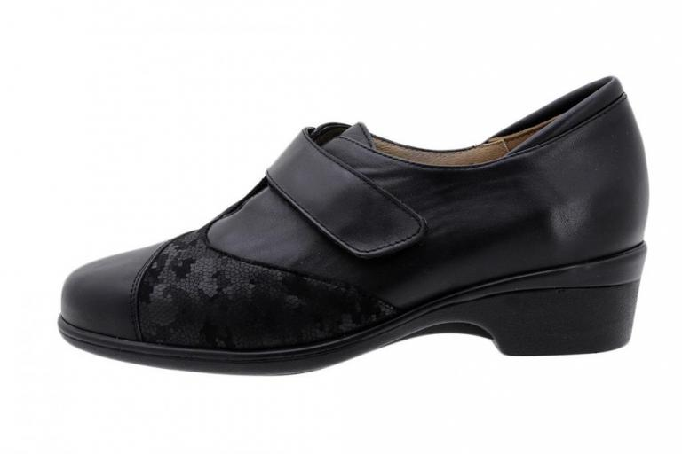 Stretch Shoe Black Leather 185615