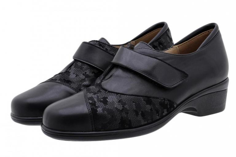 Stretch Shoe Black Leather 185615