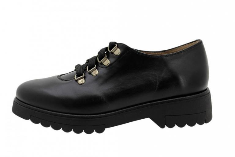 Lace-up Shoe Black Leather 185658