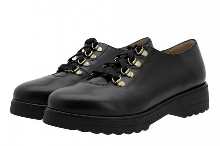 Lace-up Shoe Black Leather 185658