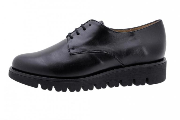 Lace-up Shoe Black Leather 185701