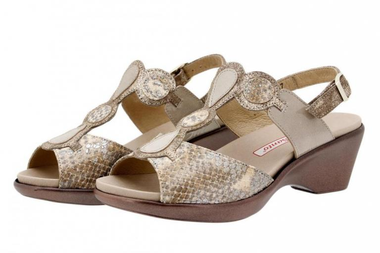 Removable Insole Sandal Snake Tan 1857