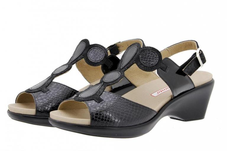 Removable Insole Sandal Snake Black 1857