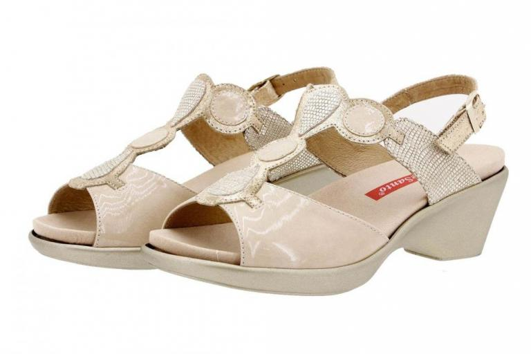 Removable Insole Sandal Patent Beige 1857