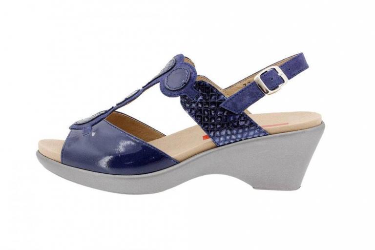 Removable Insole Sandal Patent Blue 1857