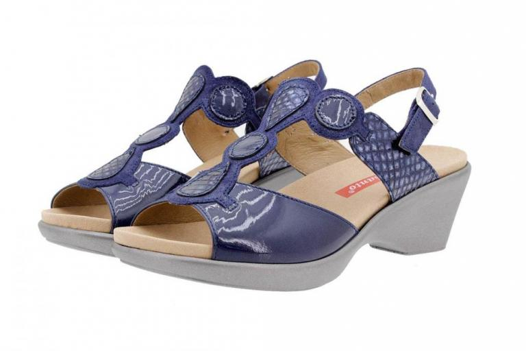 Removable Insole Sandal Patent Blue 1857