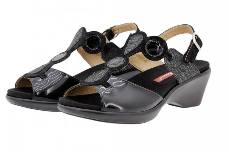 Removable Insole Sandal Patent Black 1857