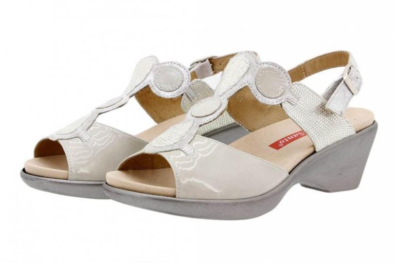 Removable Insole Sandal Patent Pearl 1857