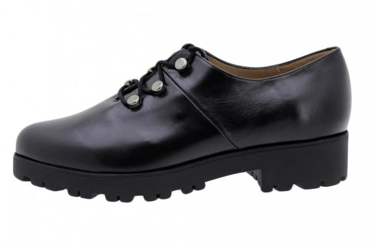 Lace-up Shoe Black Leather 185733