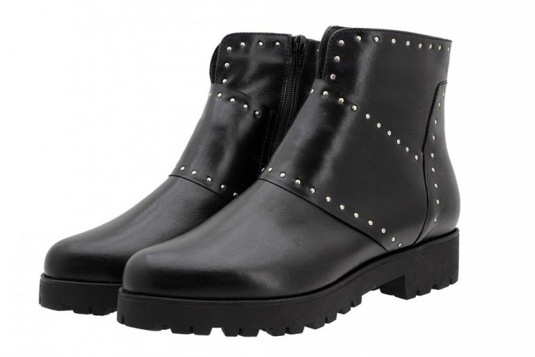 Ankle Boot Black Leather 185747