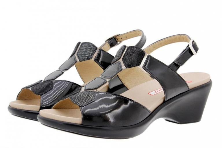 Removable Insole Sandal Patent Black 1859