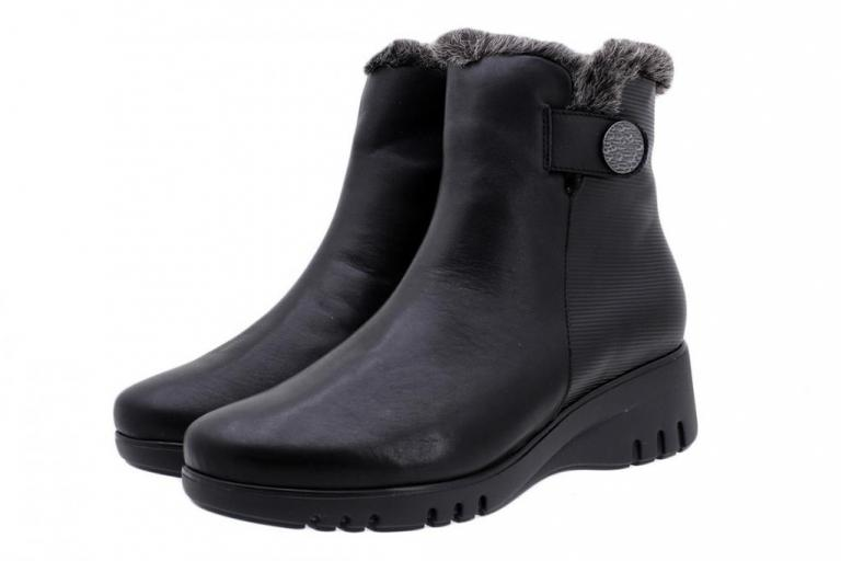 Ankle Boot Black Leather 185904