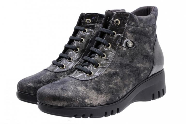 Ankle Boot Grey Metal Suede 185912