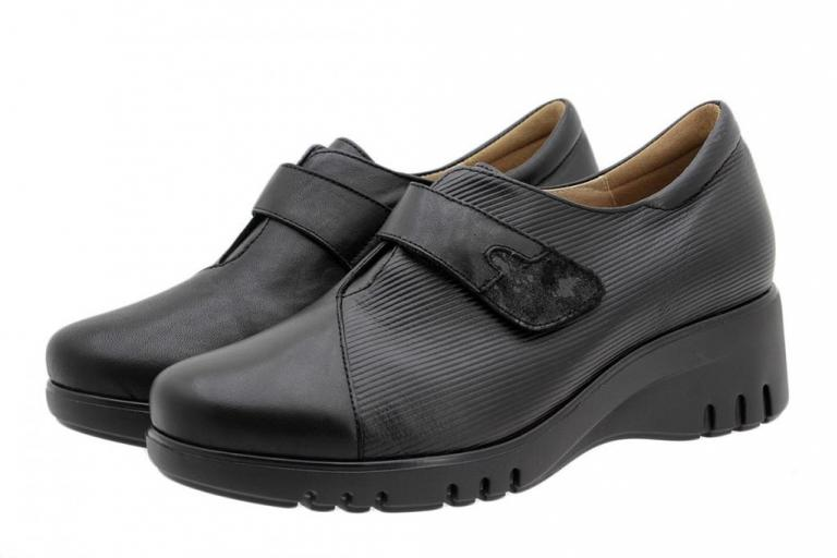 Velcro Shoe Black Leather 185922