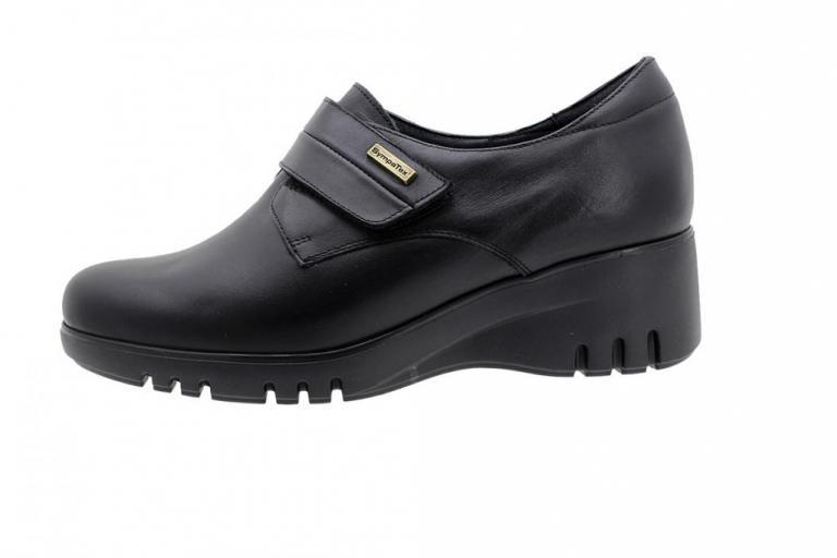 Waterproof Velcro Shoe Sympatex Black Leather 185939