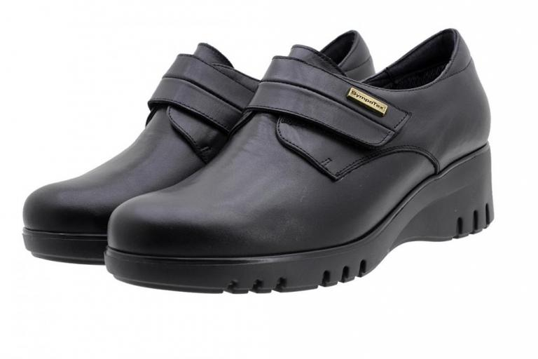 Waterproof Velcro Shoe Sympatex Black Leather 185939