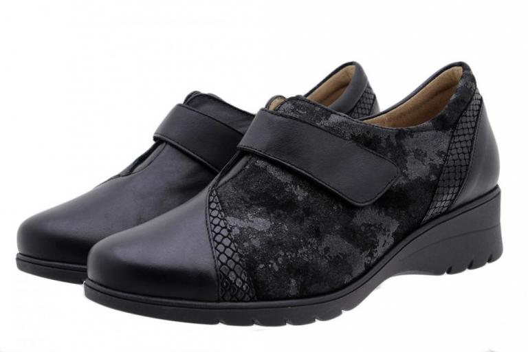 Velcro Shoe Black Leather 185956