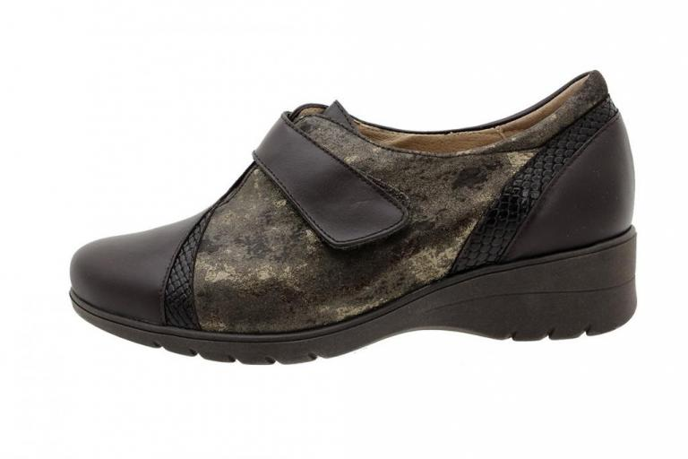 Velcro Shoe Brown Leather 185956