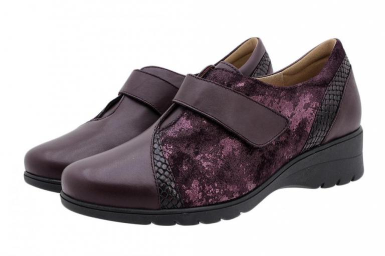 Velcro Shoe Bordeaux Leather 185956