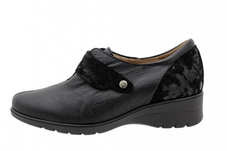 Velcro Shoe Black Leather 185962