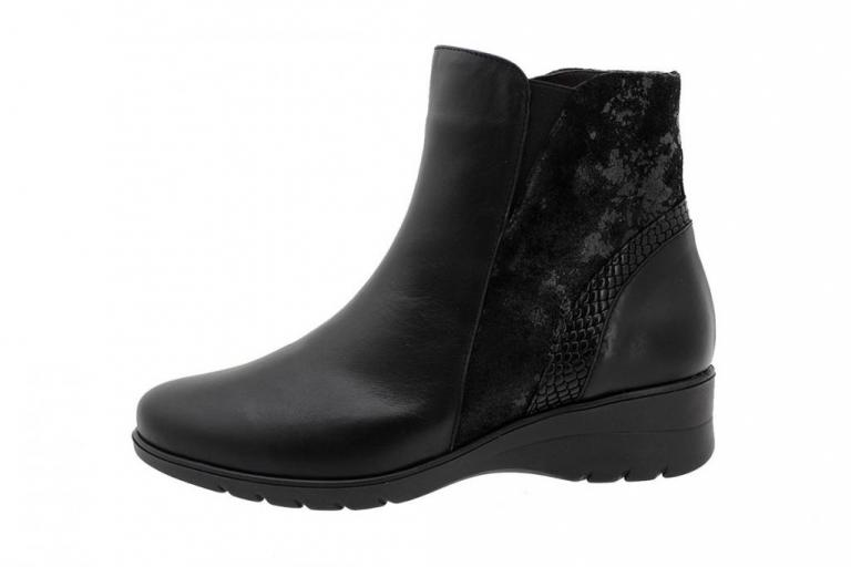 Ankle Boot Black Leather 185977