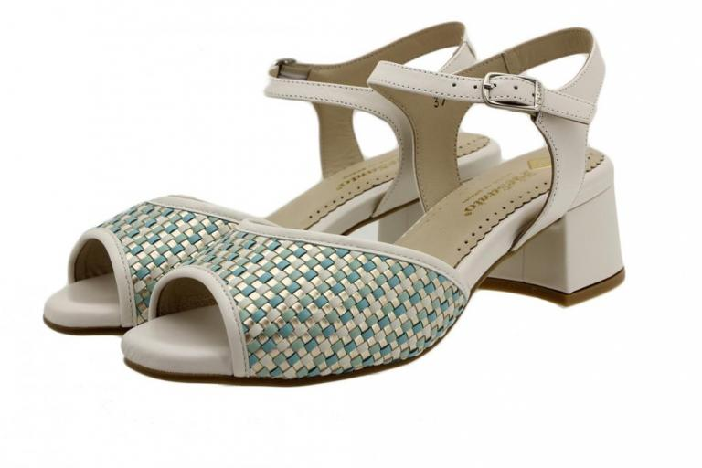 Heel Sandal Turquoise Interlaced 190286