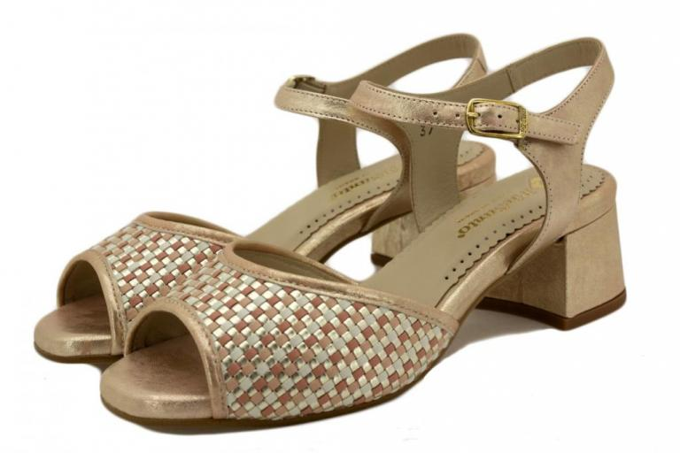 Heel Sandal Nude Interlaced 190286