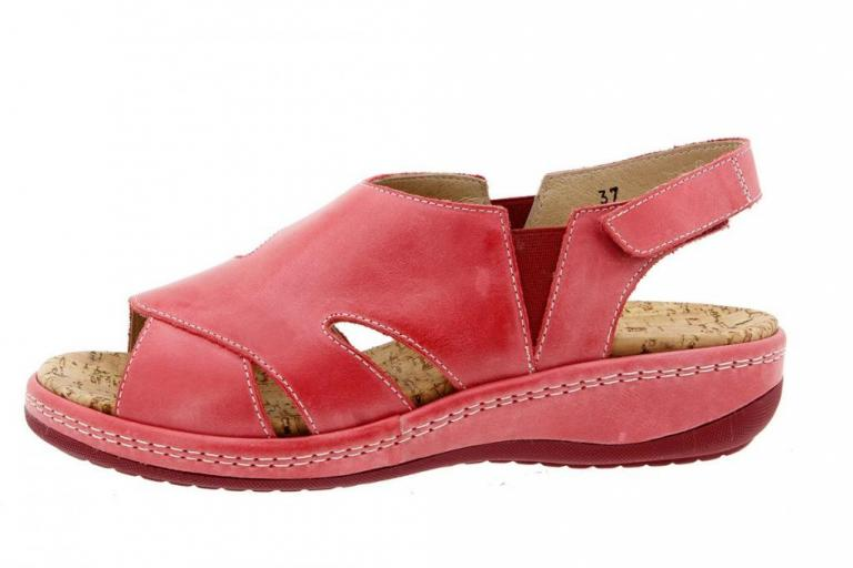 Removable Insole Sandal Leather Red 1903