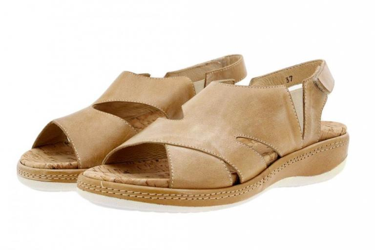 Removable Insole Sandal Tan Leather