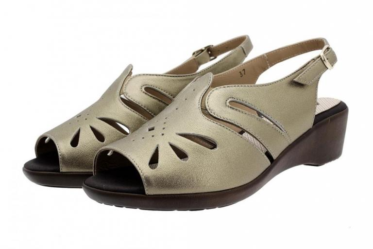 Wegde Sandal Mink Metal 190390