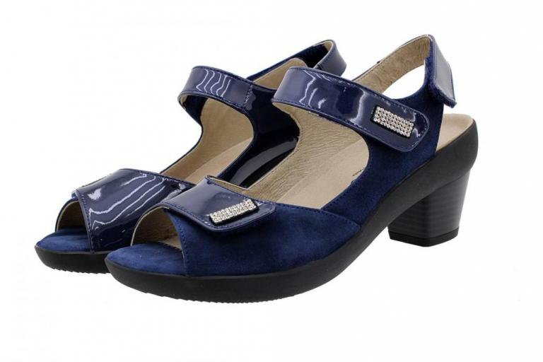 Removable Insole Sandal Blue Patent 190446