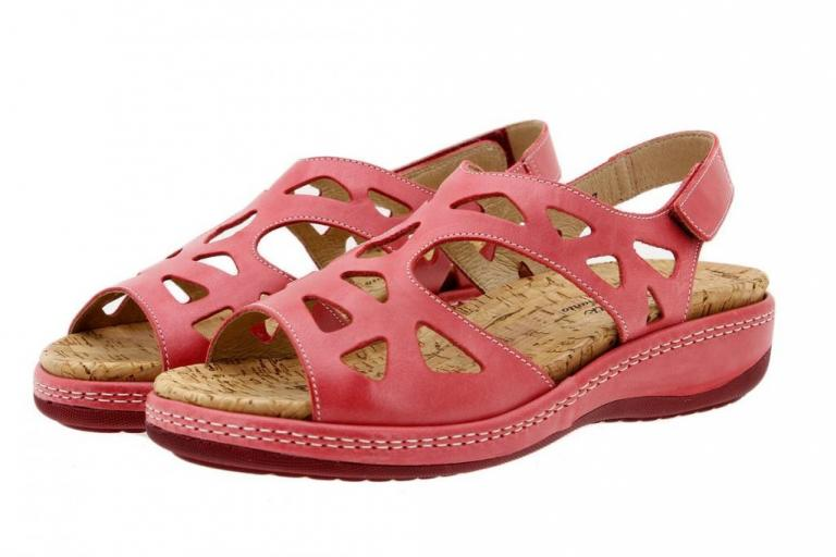 Removable Insole Sandal Leather Red 1905