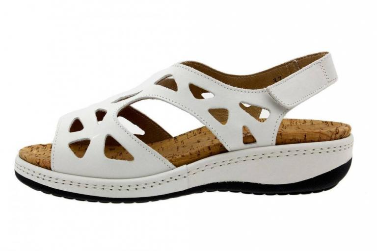 Removable Insole Sandal White Leather