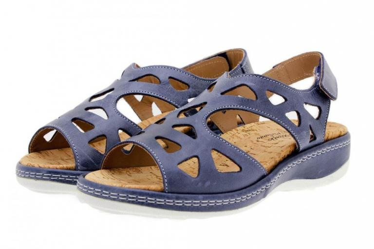 Removable Insole Sandal Blue Leather