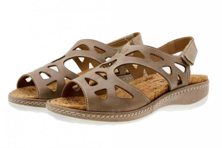 Removable Insole Sandal Leather Mink 1905