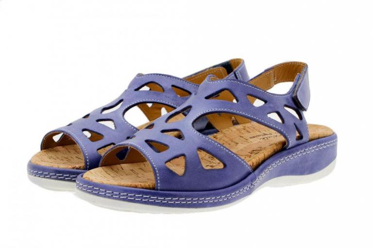 Removable Insole Sandal Jeans Leather