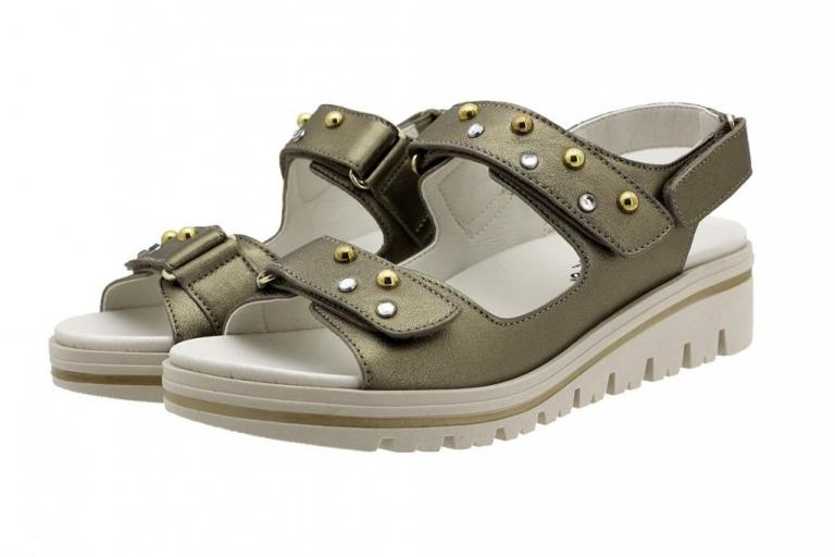 Removable Insole Sandal Mink Metal 190781