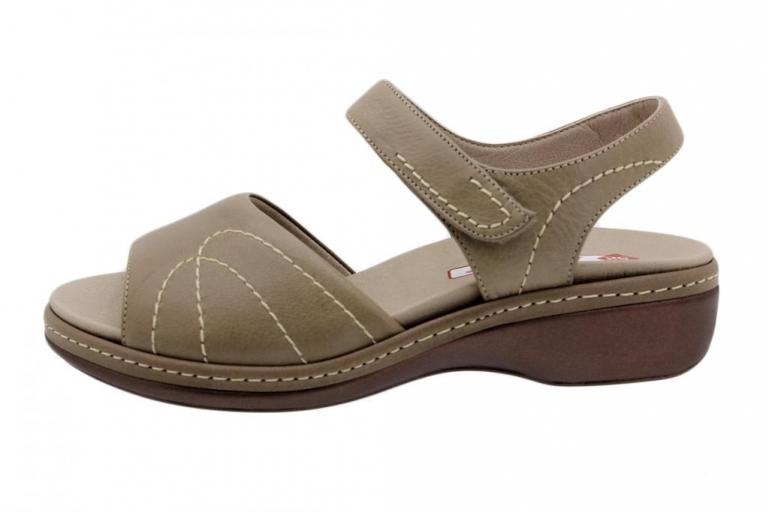 Removable Insole Sandal Tan Leather 190801