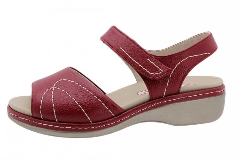 Removable Insole Sandal Red Leather 190801